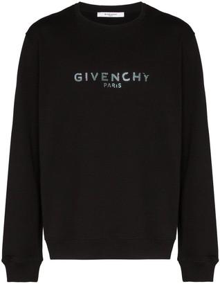 Givenchy metallic-logo sweatshirt