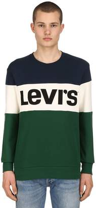 Levi's Logo Color Block Cotton Sweatshirt