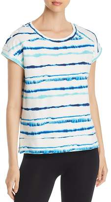 Andrew Marc Performance Printed Lace-Up Sweatshirt