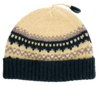 Burberry Knit Beanie Yellow Knit Beanie