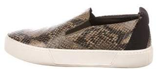 Balenciaga Snakeskin Slip-On Sneakers