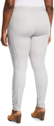 XCVI Tallula Ruched Legs Pleated Pants, Plus Size