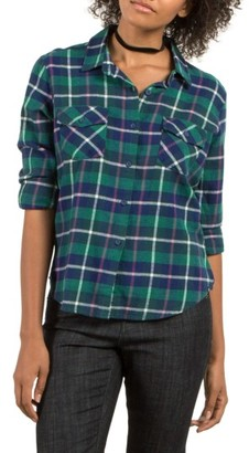 Women's Volcom New Flame Plaid Flannel Shirt $49.50 thestylecure.com