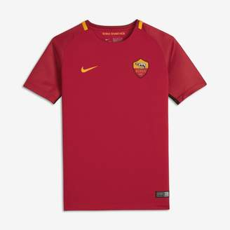 Nike 2017/18 A.S. Roma Stadium Home Older Kids'Football Shirt