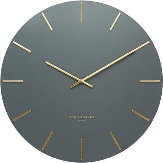 Camilla And Marc One Six Eight London Luca Silent Wall Clock, Charcoal LP12 40 cm