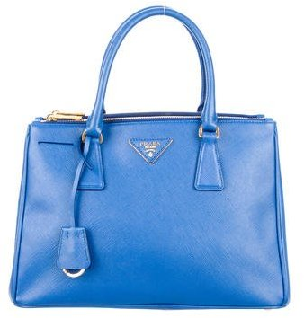 prada Prada Medium Saffiano Lux Double Zip Tote