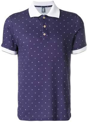 fe-fe polka dot print polo shirt