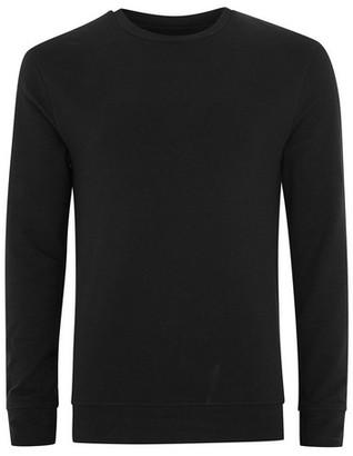 Topman Mens Black Ultra Muscle Fit Sweatshirt