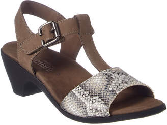 Mephisto Carine Snake-Embossed Leather Sandal