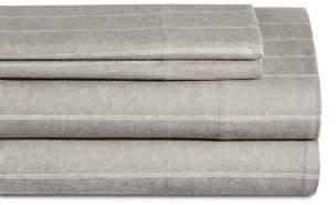 Glucksteinhome Four-Piece Double Stripe European Flannel Sheet Set