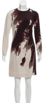 Gucci Brush Stroke Print Silk Dress