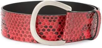 Sonia Rykiel snakeskin effect belt
