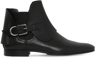 Balmain 20mm Leather Chelsea Boots