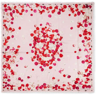 Alexander McQueen Printed Modal And Wool-blend Twill Scarf - Pastel pink