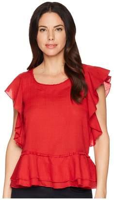 Liverpool Ruffled Sleeve Shirt Women's Clothing