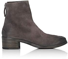Marsèll Women's Back-Zip Suede Ankle Boots - Dk. brown