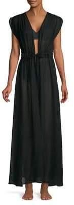Calvin Klein St. Tropez Tie-Front Maxi Cover-Up