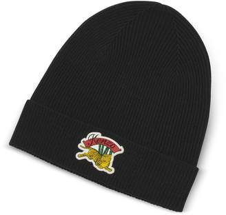 Kenzo Jumping Tiger Knitted Wool Beanie
