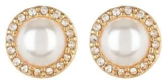 Nordstrom Rack Imitation Pearl Pave Surround Stud Earrings