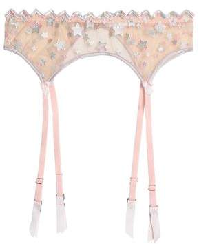 Mimi Holliday Embroidered Tulle Suspender Belt