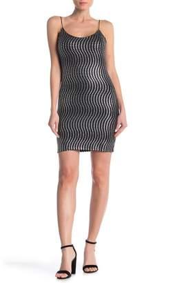 Bebe Metallic Sequin Mini Dress