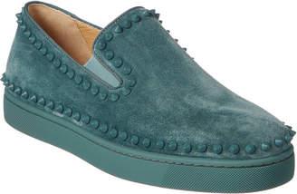 Christian Louboutin Pik Boat Suede Slip On Sneaker