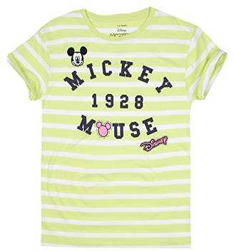Disney Girl's Mickey Patches T-Shirt,11-12 Years