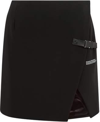 Off-White Off White Wrap Front Mini Skirt