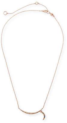 Stevie Wren 14k Rose Gold Rainbow Diamond Crescent Moon Necklace