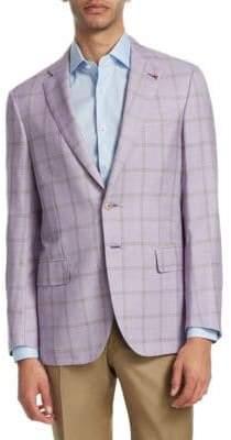 Isaia Windowpane Cotton Sportcoat