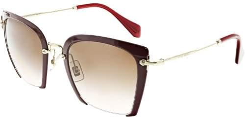 Miu Women's Gradient MU52RS-UA50A6-52 Pink Semi-Rimless Sunglasses