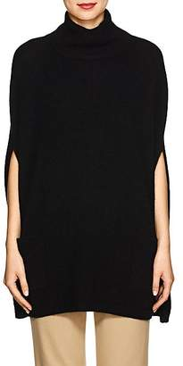 Barneys New York Women's Cashmere Turtleneck Poncho - Black