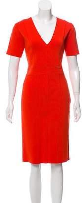 Blumarine Short Sleeve V-Neck Dress