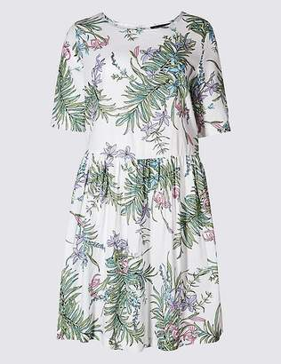 Marks and Spencer Pure Cotton Floral Print Swing Dress