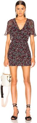 Nicholas Mini Daisy Ruched Mini Dress