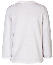 Jil SanderJil Sander Silk-Cotton 3/4 Sleeve Two-Tone Pullover