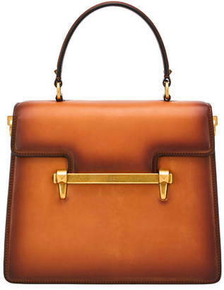Valentino Uptown Leather Top-Handle Bag