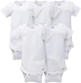 Gerber 5 Pack White Onesies Bodysuits