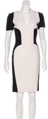 Emilio Pucci V-Neck Knee-Length Dress black V-Neck Knee-Length Dress