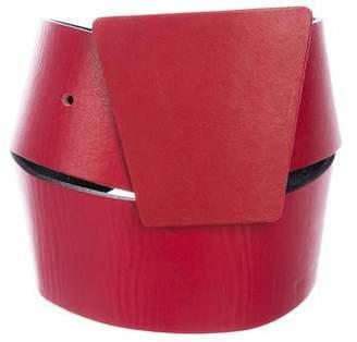 Akris Leather Buckle Belt