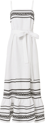 Lisa Marie Fernandez Ric Rac Trimmed Linen Dress $995 thestylecure.com