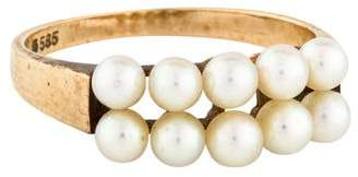 Mikimoto 14K Double Row Pearl Ring