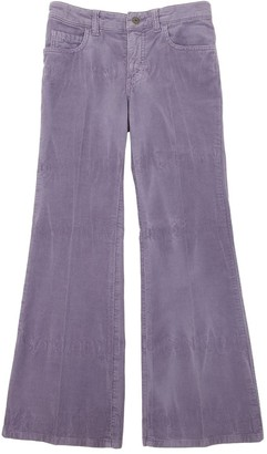 Gucci Flared Corduroy Stretch Pants W/ Patch