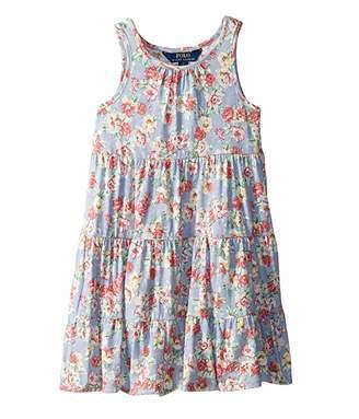 Polo Ralph Lauren Floral Cotton Jersey Dress (Little Kids)