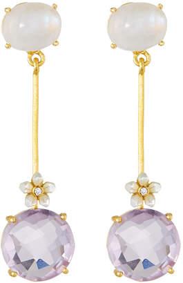 Indulgems Stone Dangle Earrings, Pink