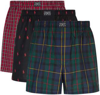 Polo Ralph Lauren Cotton Boxer Shorts (Pack of 3)