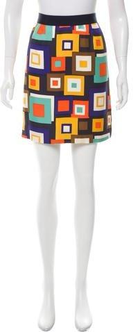 Kate Spade New York Printed Silk Skirt