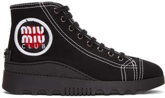 Miu Miu Back Logo Patch High-Top Sneakers