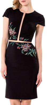 Terani Couture Glamour by Solid Embroidered Dress