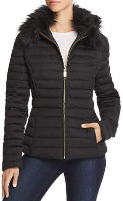 Hunter Refined Faux Fur Trim Puffer Coat